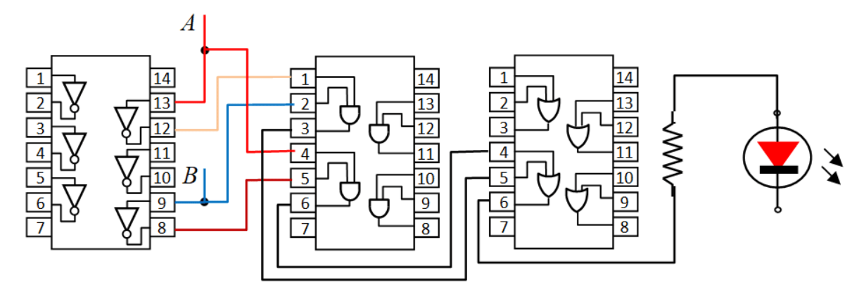 circuito digital implementado